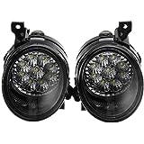 SODIAL Pair 9 Led Bright White Fog Light Lamp Left & Right for Vw Golf Mk5 Jetta Rabbit Car Accessories 1Kd941700 1Kd941699