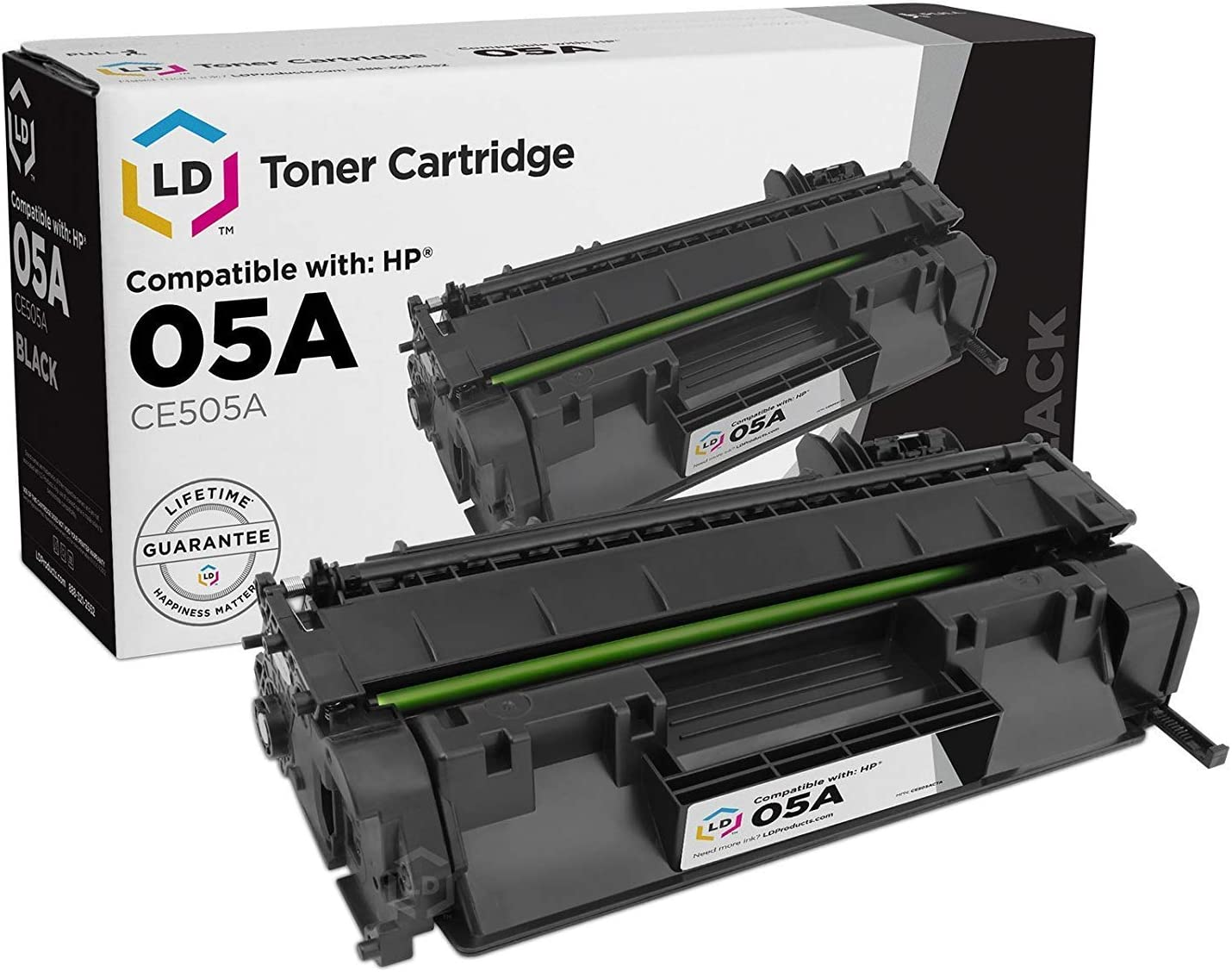 LD Compatible Toner Cartridge Replacements for HP 05A (Black, 2-Pack)