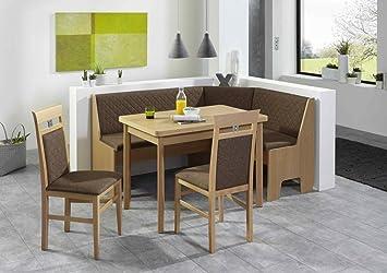 Eckbankgruppe U0027LOKUu0027 Essgruppe 165 X 125 X 86 Vierfußtisch 2 Stühle Modern  Eckbank Küchentisch