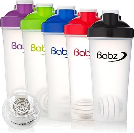 Babz gimnasio proteína agua Nutrición Mixball Shaker