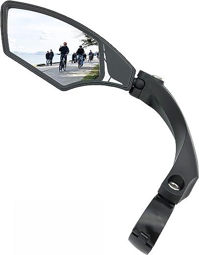 Hafny NEW Handlebar Bike Mirror, HD,Blast-resistant, Glass Lens, HF-MR095 (left)