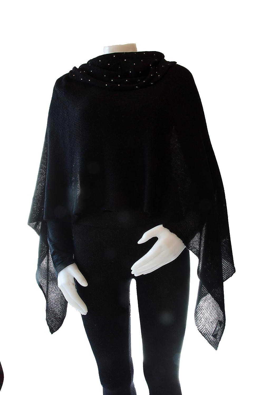 Blackc Cashmere Shawl Scarf Handmade 100% Pure Lightweight Oversized