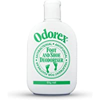 Foot Odour Eliminator for Smelly & Stinky Feet - Fungus & Athletes Foot Prevention | Shoe Deodoriser and Antiperspirant – Odorex Original - Antifungal, Kills Odor FAST | 10 shoes fresh for 1 yr