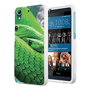 HTC Desire 626s Case, HTC Desire 626 Case, Capsule-Case Slim Fit Snap-on White Hard Case for HTC Desire 626s / HTC Desire 626 - (Mamba Snake)