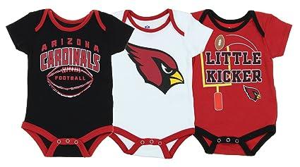 OutersStuff Arizona Cardinals NFL Baby Boys Newborn Infant 3 Points 3 Piece  Bodysuit Set ddd0f5958