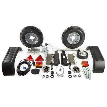 AB Tools 500 Kg Remolque Unidades de suspensión Kit de Guardabarros Luces del Enganche de Remolque Ruedas de Cable de 5m: Amazon.es: Coche y moto