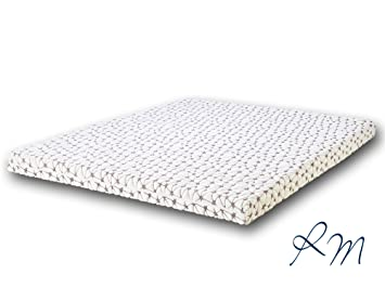 Topper Gel Látex (top colchón) - 6 cm de núcleo de gel látex-RM - Dunlop Tecnología 180 x 200 x 8 cm: Amazon.es: Hogar