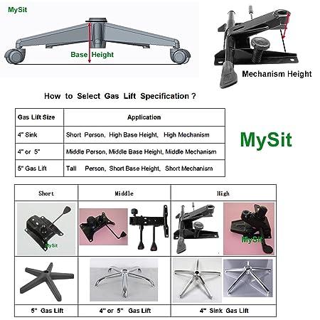 Amazon.com: MySit Office Chair Piston Gas Lift Cylinder | Heavy Duty 5