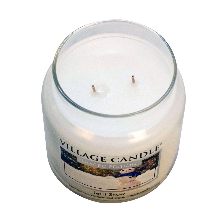 /Candela Passeggiata in Slitta Bianco Vetro 9,7/x 9,8/x 11,6/cm Grande Jarre Village Candle/