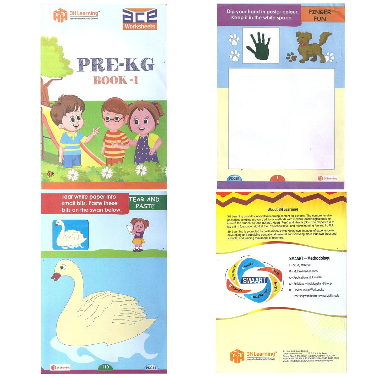 5a65b9354c4 Buy Pre-KG   Nursery Kids 206 Activities Early Learning Skill Development  Practice Worksheets (Age 2.5 to 3.5) - Alphabets