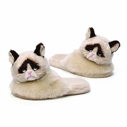6ad6a953870 Amazon.com  GUND Grumpy Cat Plush Slippers