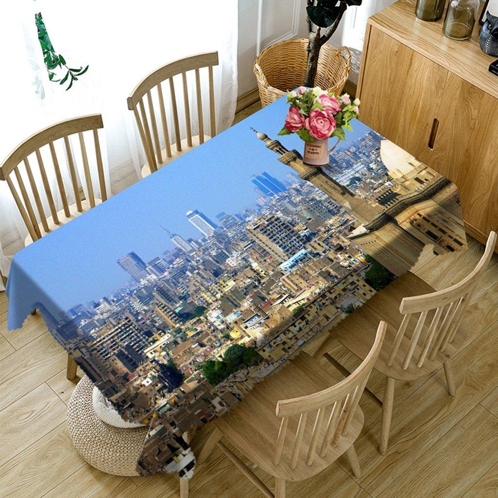 Barato Ropa de Cocina Manteles rectangulares - 3D Landscape Series Mantel VC34 - Respetuoso con el Medio Ambiente y sin Sabor - Impreso digitalmente a Prueba de Agua (Tamaño : Square -216cmx216cm)