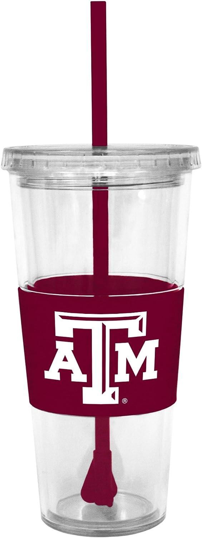 NCAA Texas A&M Aggies Straw Acrylic Tumbler, 22-ounces, Team Color