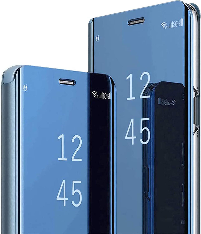 TOPOFU Funda para Samsung Galaxy S20 FE Cáscara,Ultra Delgado Inteligente Espejo Brillante Funda [360° Protection] [Soporte Plegable] [Anti-Scratch] Flip Case Cover