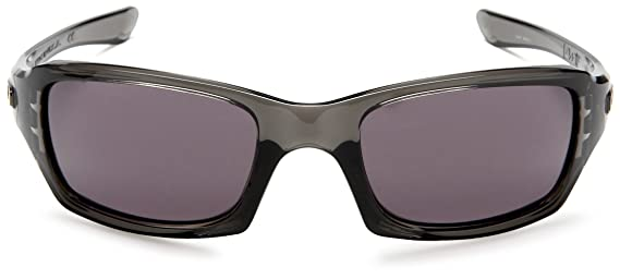 23c2b4d91a Amazon.com  Oakley Fives Squared Men s Lifestyle Sports Sunglasses Eyewear  - Grey Smoke Warm Grey One Size Fits All  Oakley  Clothing