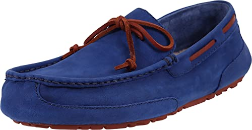 169359e7ee8 UGG Men's Chester Capra Racing Stripe Blue Leather Loafer: Amazon.ca ...