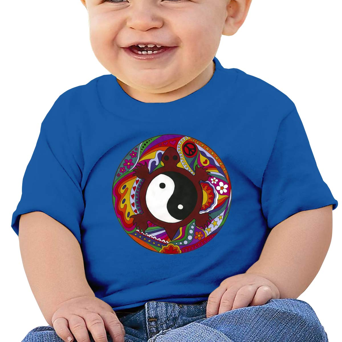 XHX403 Psychedelic Turtle Yin Yang Infant Kids T Shirt Cotton Tee Toddler Baby 6-18M