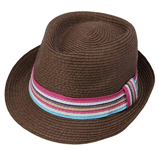 c6f34f9d Image Unavailable. Image not available for. Color: Jtc Unisex Men's Women's  Colorful Band Summer Fedora ...