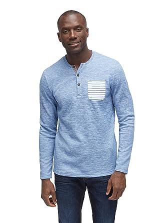 TOM TAILOR für Männer T-Shirts Tops Gestreiftes Shirt mit Brusttasche   Amazon.de  Bekleidung 0560f0ecc0