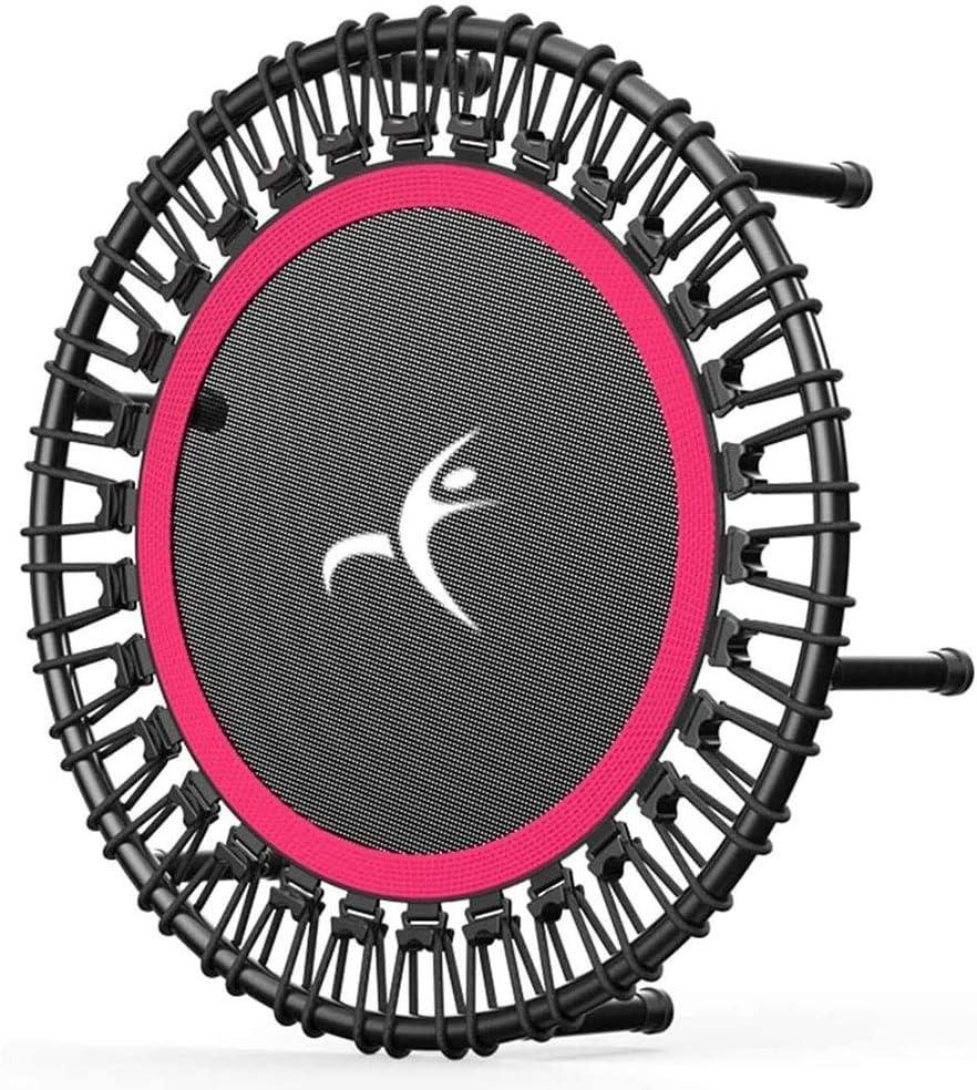 Mini cama elástica Adulto mini trampolín, Trampolín de fitness, tranquilo y estable Botar, Apto for niños de adulto Deportes Trampolín interior y exterior Deportes, capacidad de carga de 500 Kg Trampo