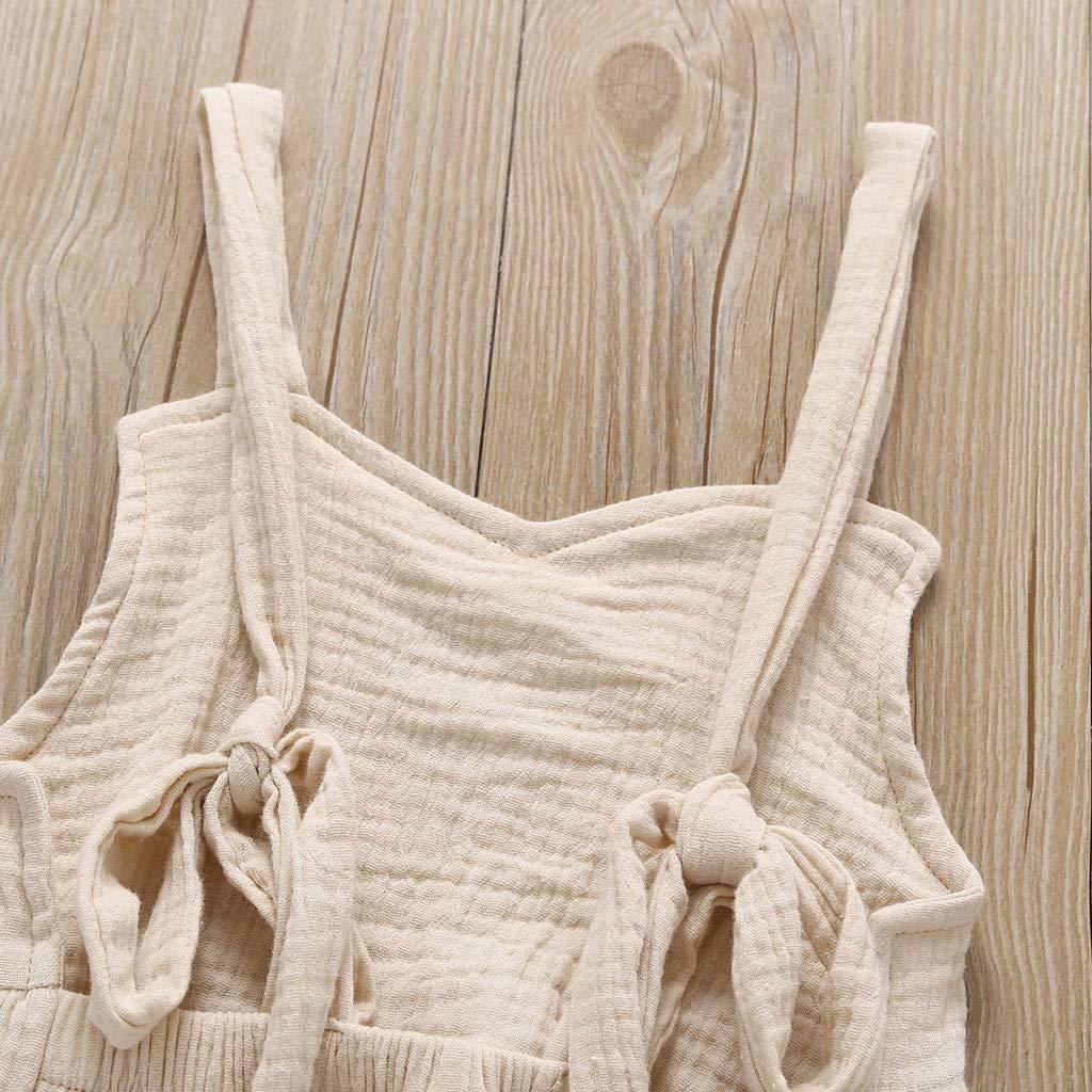 Pwtchenty Kinder Shorts F/üR Baby M/äDchen Jumpsuit Volltonfarbe Overalls /äRmelloses Bekleidung Set