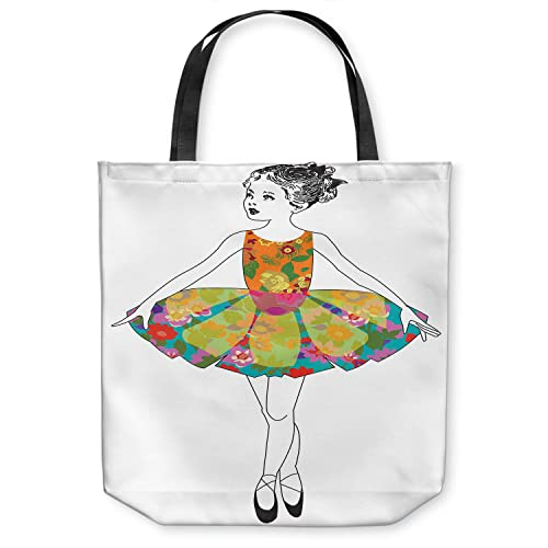 014ba89aa085 Amazon.com  DiaNoche Designs Tote Shoulder Bags by Marci Cheary - Ballerina  Clean  Shoes