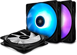 DEEPCOOL RF120 3in1 V2, 3x120mm RGB PWM Fans with Fan Hub, Compatible with ASUS Aura Sync, Controlled by Motherboard with 12V 4-pin RGB Header, No Wired Controller