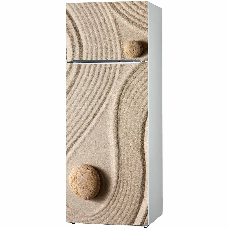32 x 71 Pattern Striped Line Sand Rock Big Small Multiple, LaModaHome Kitchen Fridge Wardrobe Sticker Decorative Vinyl Art