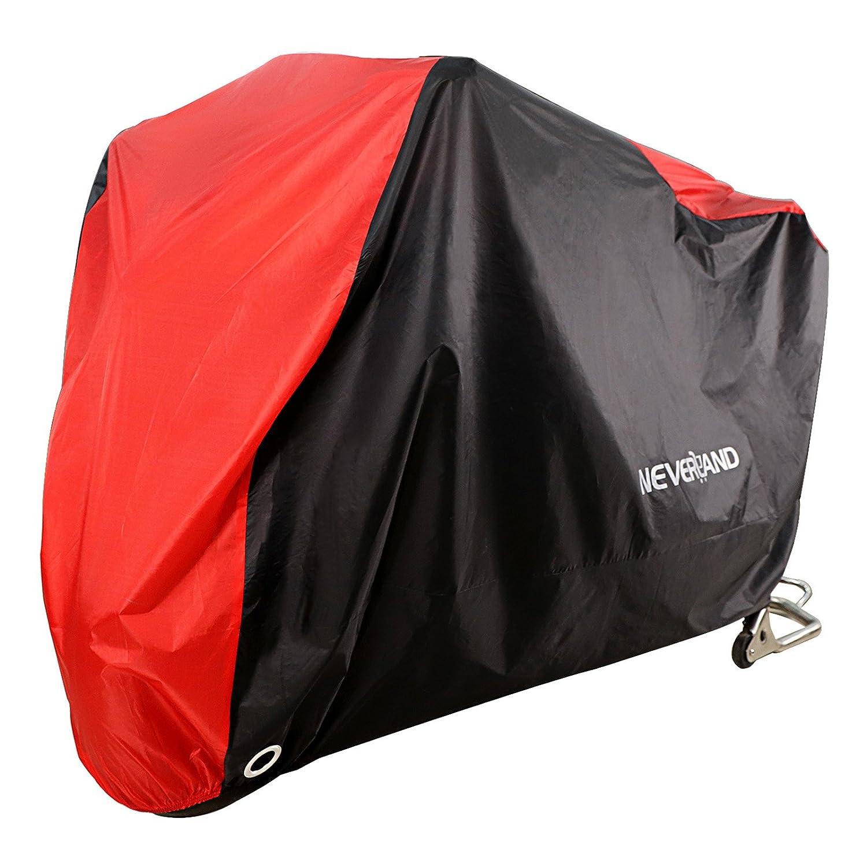 Lona XL Moto novsight motorradabdeckung Moto Garaje Lona Protecció n Mó vil Cover polvo Luz Protecció n UV Negro/Rojo