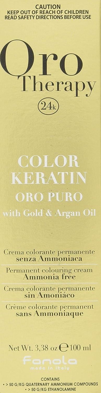 Fanola - Oro Therapy Color Keratin Puro, crema colorante permanente 100mL 9.1 Lichtblond Asch