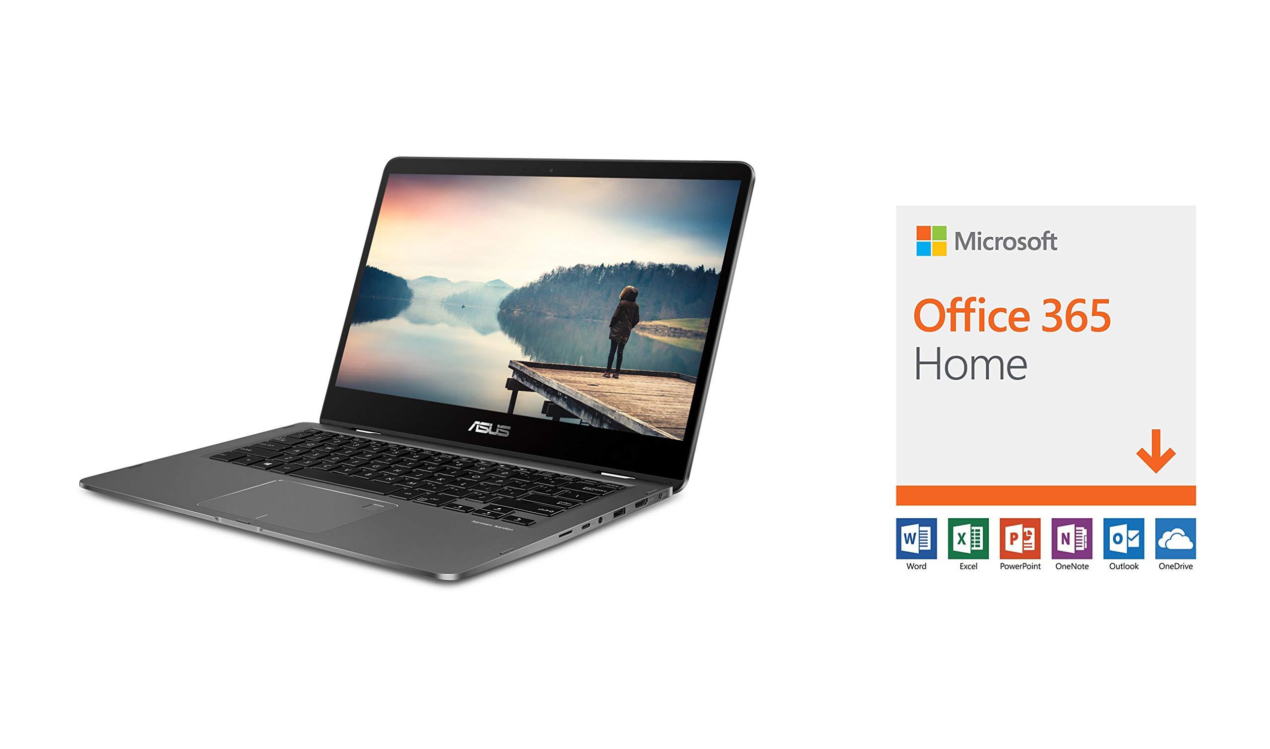 "ASUS ZenBook Flip UX461UN-DS74T Ultra-Slim 2-in-1 Laptop 14"" FHD wideview Display 1"