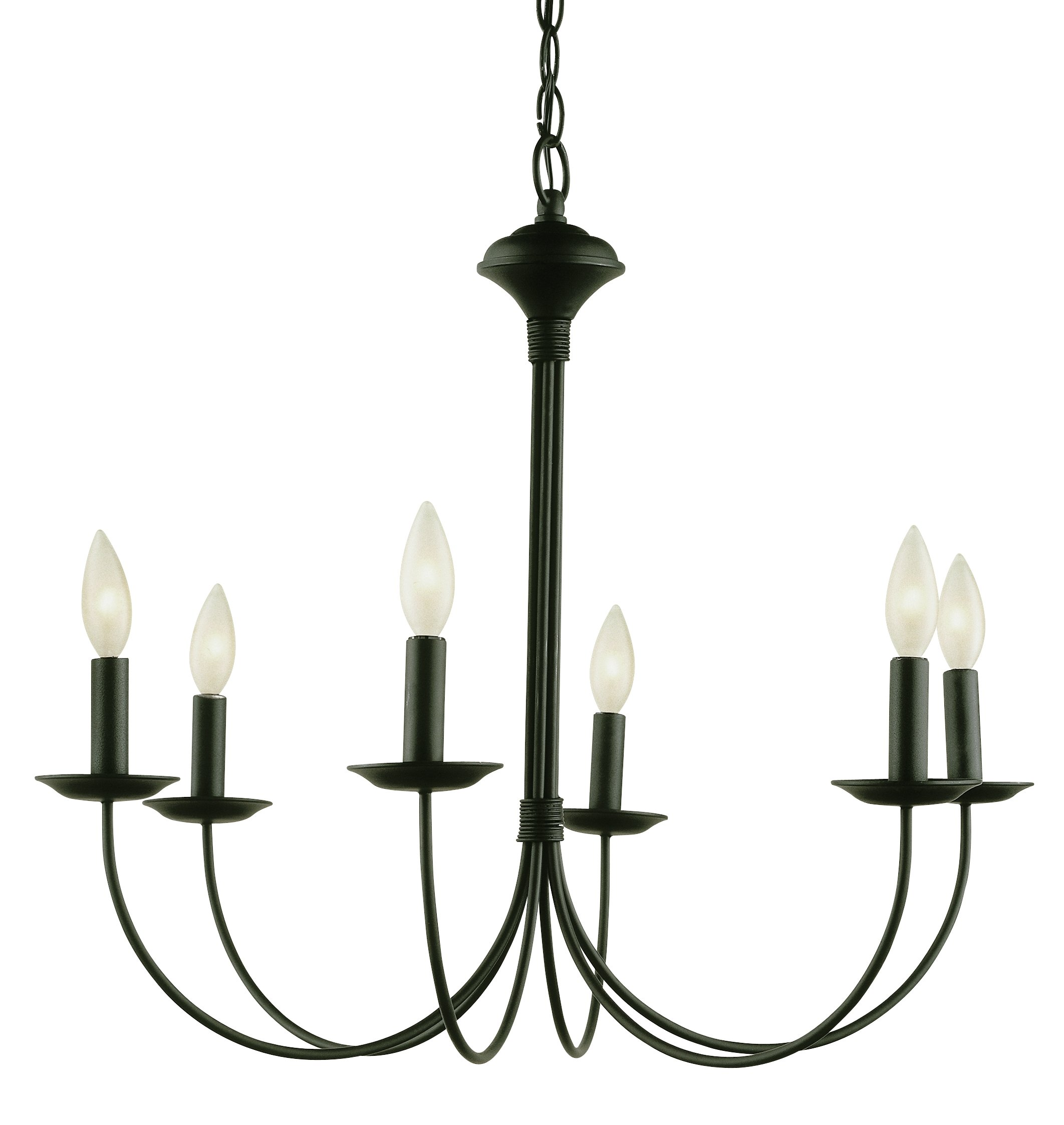 Trans Glob Lighting 9016 ROB Indoor Candle Chandelier, Rubbed Oil Bronze, 22'' x 24'' x 24''