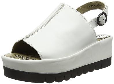 e028b89a6e4 FLY London Women s Bora611fly Platform Sandal Off White Rug 40 EU 9-9.5 M