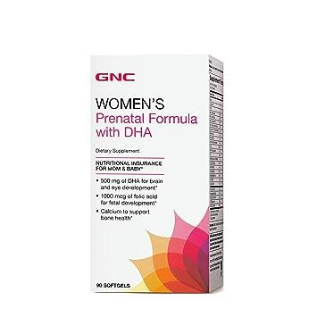 9d51798d993 Amazon.com: GNC Womens Prenatal Formula with DHA 90 softgels: Health ...