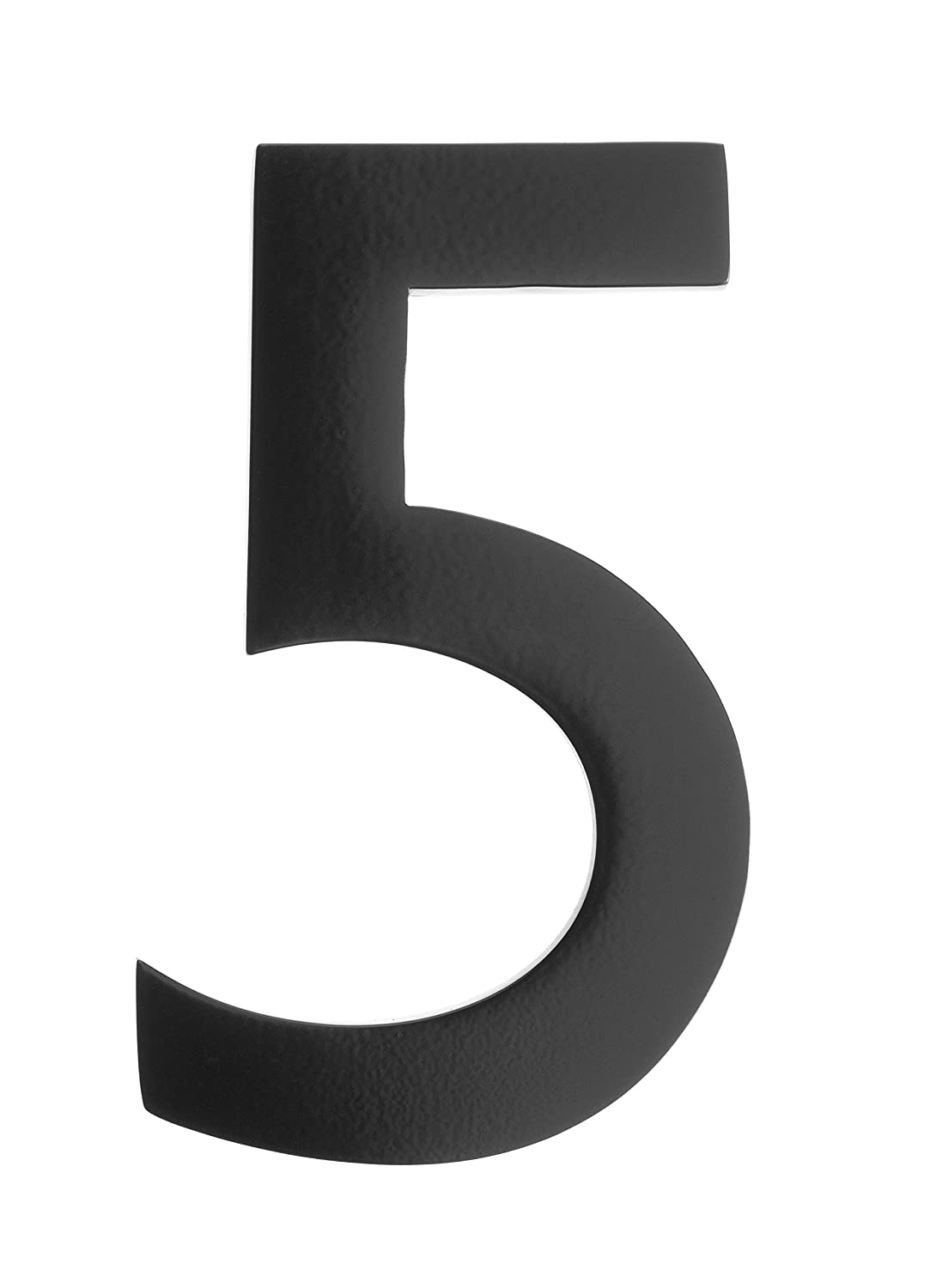 Architectural Mailboxes 3585B-5 5 in. Brass Floating House Number 5, Black
