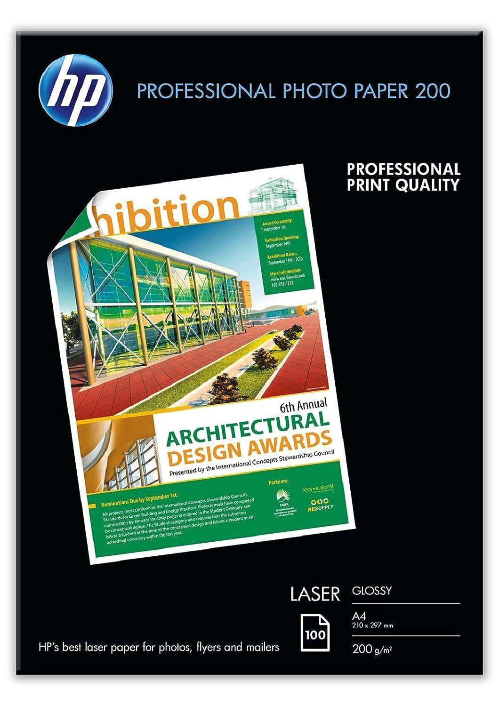 HP Professional CG969A - Papel brillante para impresora laser (250 hojas, A3)