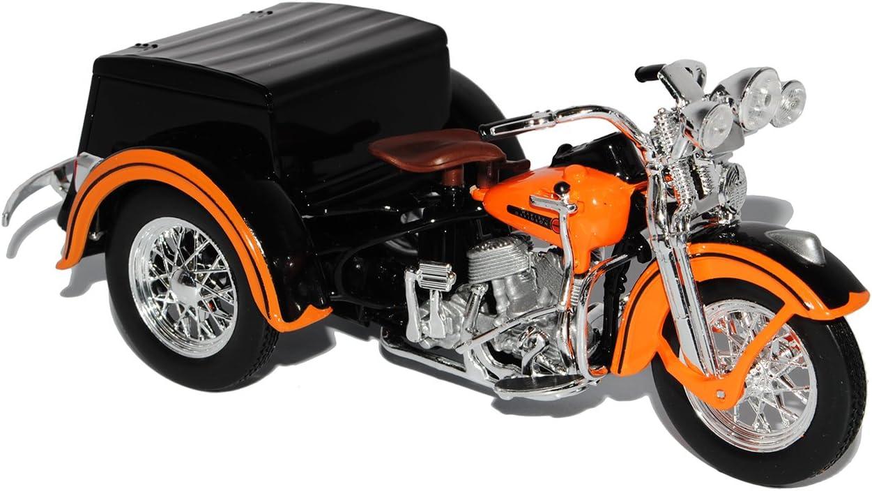 HarIey Davdson 1947 Trike Service Car Orange 1//18 Maisto Modell Motorrad mit individiuellem Wunschkennzeichen