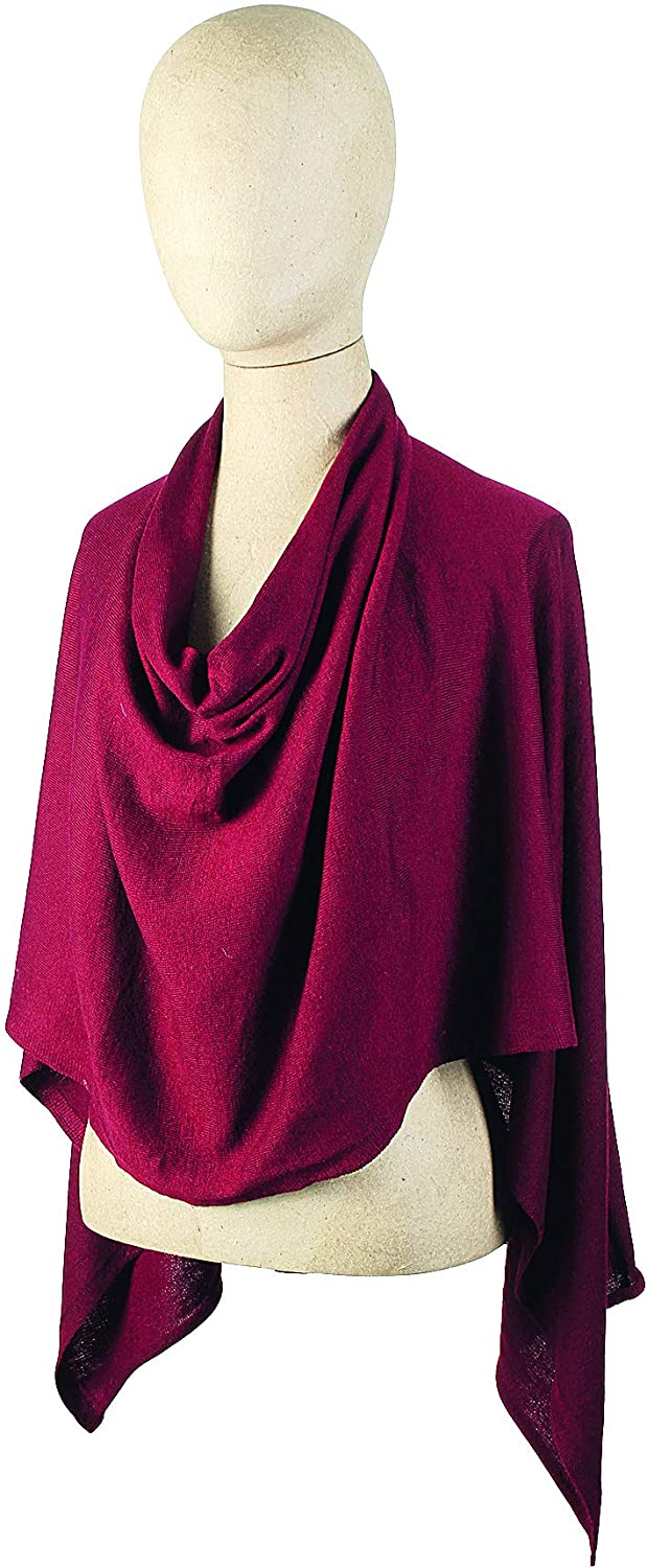 Lightweight Solid Jersey Knit Poncho 667103