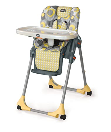 Genial Chicco Polly Double Pad Vinyl High Chair, Miro