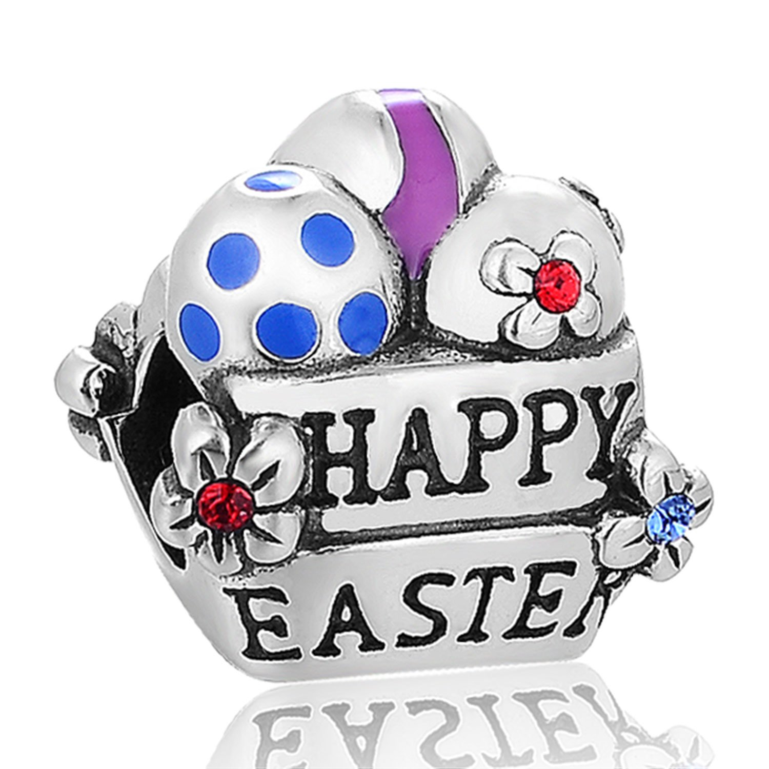 Globalwin Lucky Bunny Rabbit Charm 925 Sterling Silver Animal Pet Charm Easter Gift Fit Bracelet