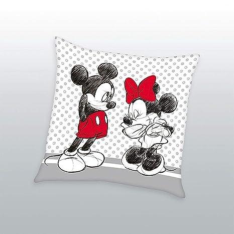 Disney Mickey Minnie Cojín Cojín afelpado Cojín Decorativo 40 x 40cm