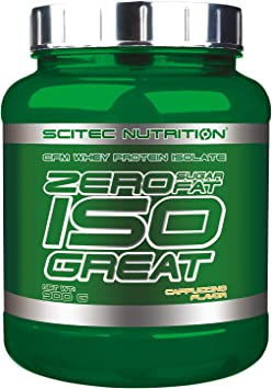 Scitec Nutrition Zero Isogreat, zero sugar/zero fat, aislado de proteína de suero, 900 g, Cappuccino