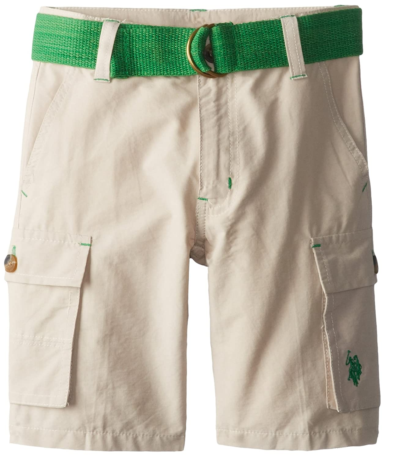 U.S. Polo Assn. Little Boys' Belted Cotton and Nylon Cargo Short
