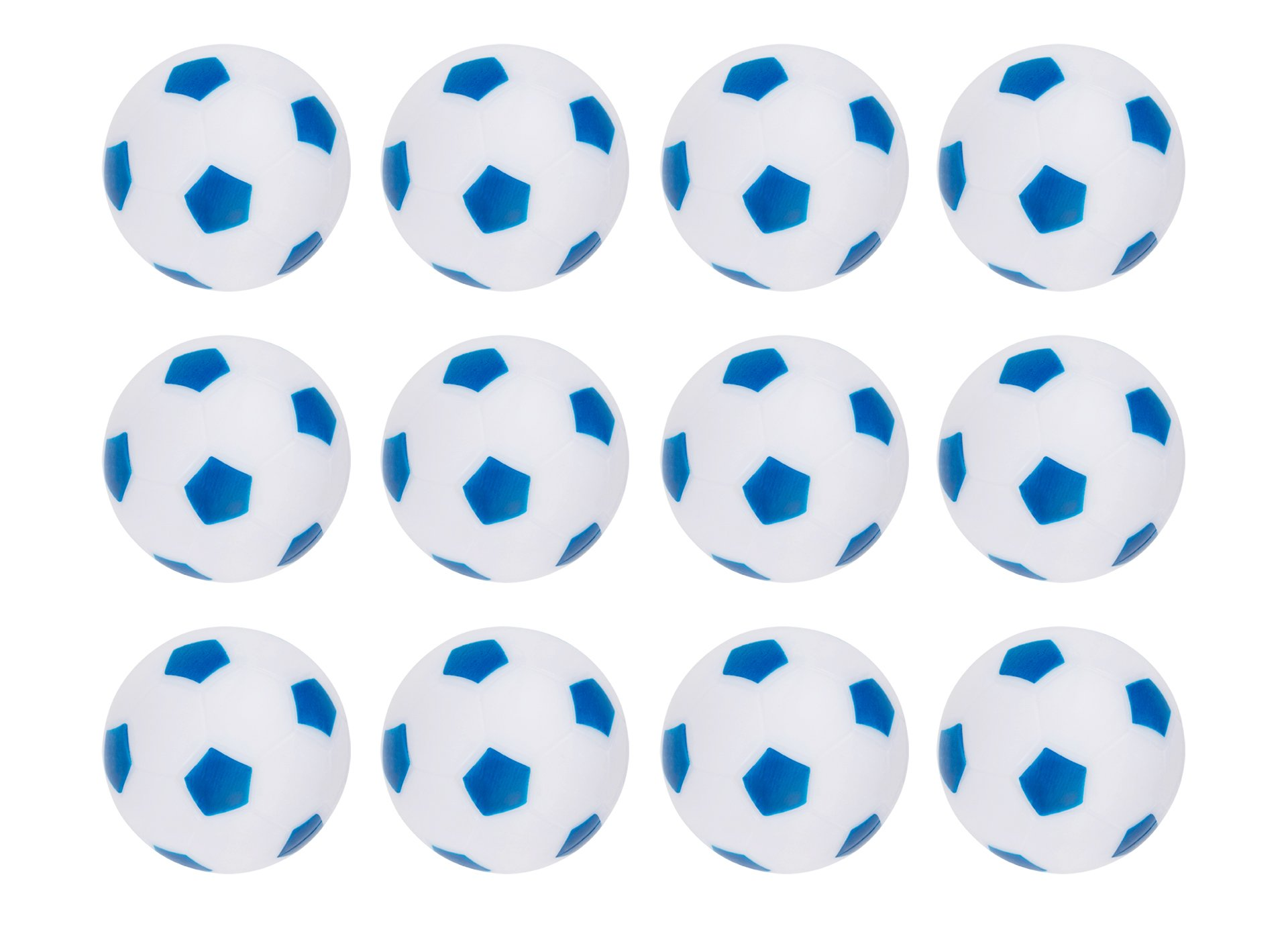 Truscope Sports Foosball Table Soccer Replacement Balls - 36mm - (12 Pack, Blue-White)