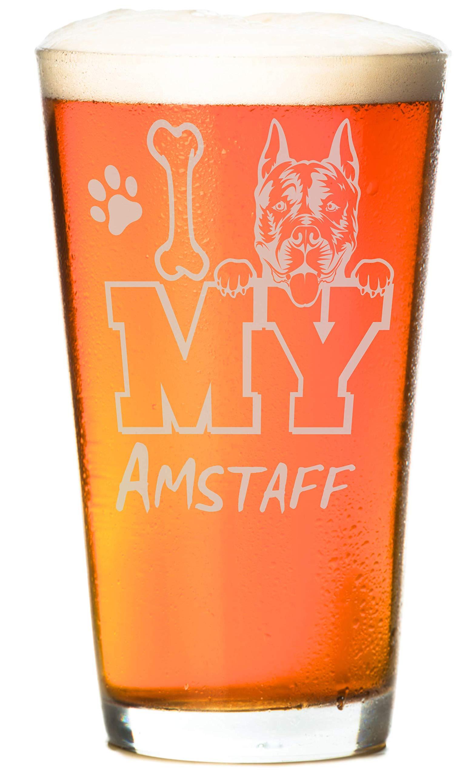 I Love My Golden 16 oz Beer Retriever Pint Glass (1 Glass) 2