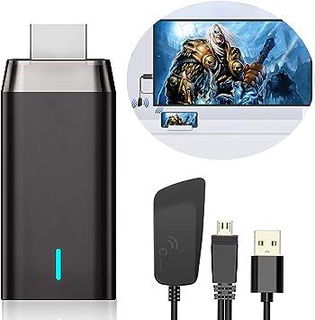 Wireless HDMI Display Dongle Adaptador, DIWUER 5G/1080P Miracast Airplay HDMI Dongle Receptor para Android / iPhone / iPad / Windows a Proyector / ...