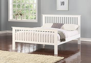 Howard Bed White Wooden Bed Frame King Size Amazon Co Uk Kitchen
