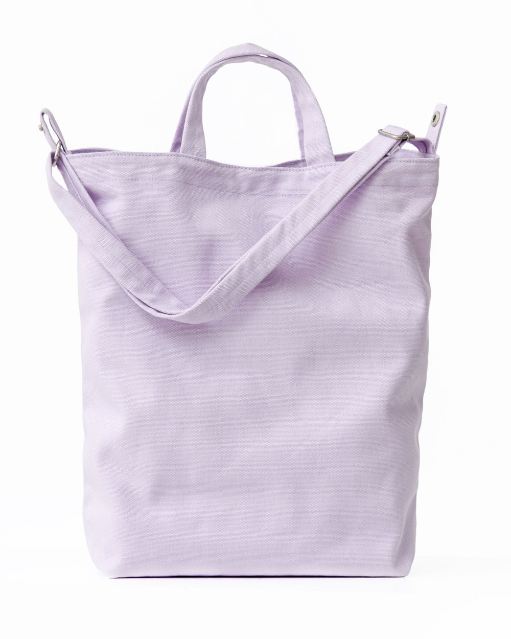 BAGGU Duck Bag Canvas Tote, Essential Everyday Tote, Spacious and Roomy, Lilac