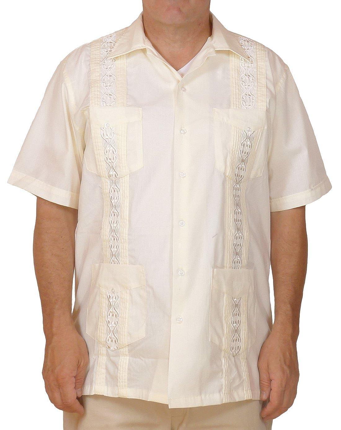 598fae79c7 Squish Cuban Style Guayabera Shirt Cream at Amazon Men s Clothing store