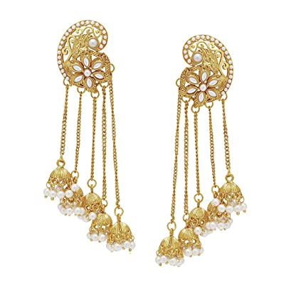 39d1beeb3 Buy Shining Diva 18k Gold Plated Fancy Party Wear Jhumka/Jhumki Traditional  Earrings For Women & Girls Online at Low Prices in India   Amazon Jewellery  ...